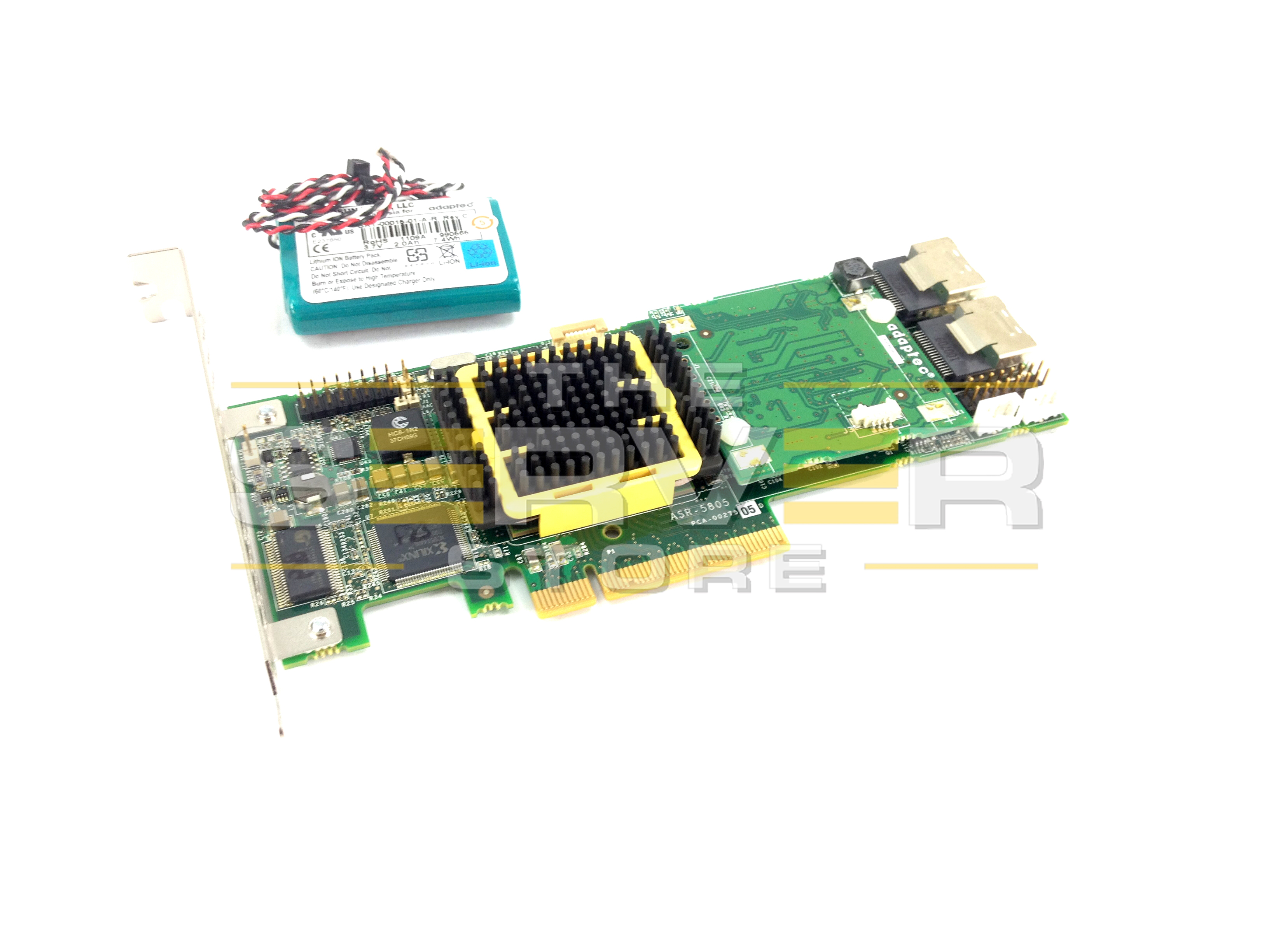 Adaptec 8-Port PCI-E 512MB Cache RAID Controller with Battery, ASR-5805
