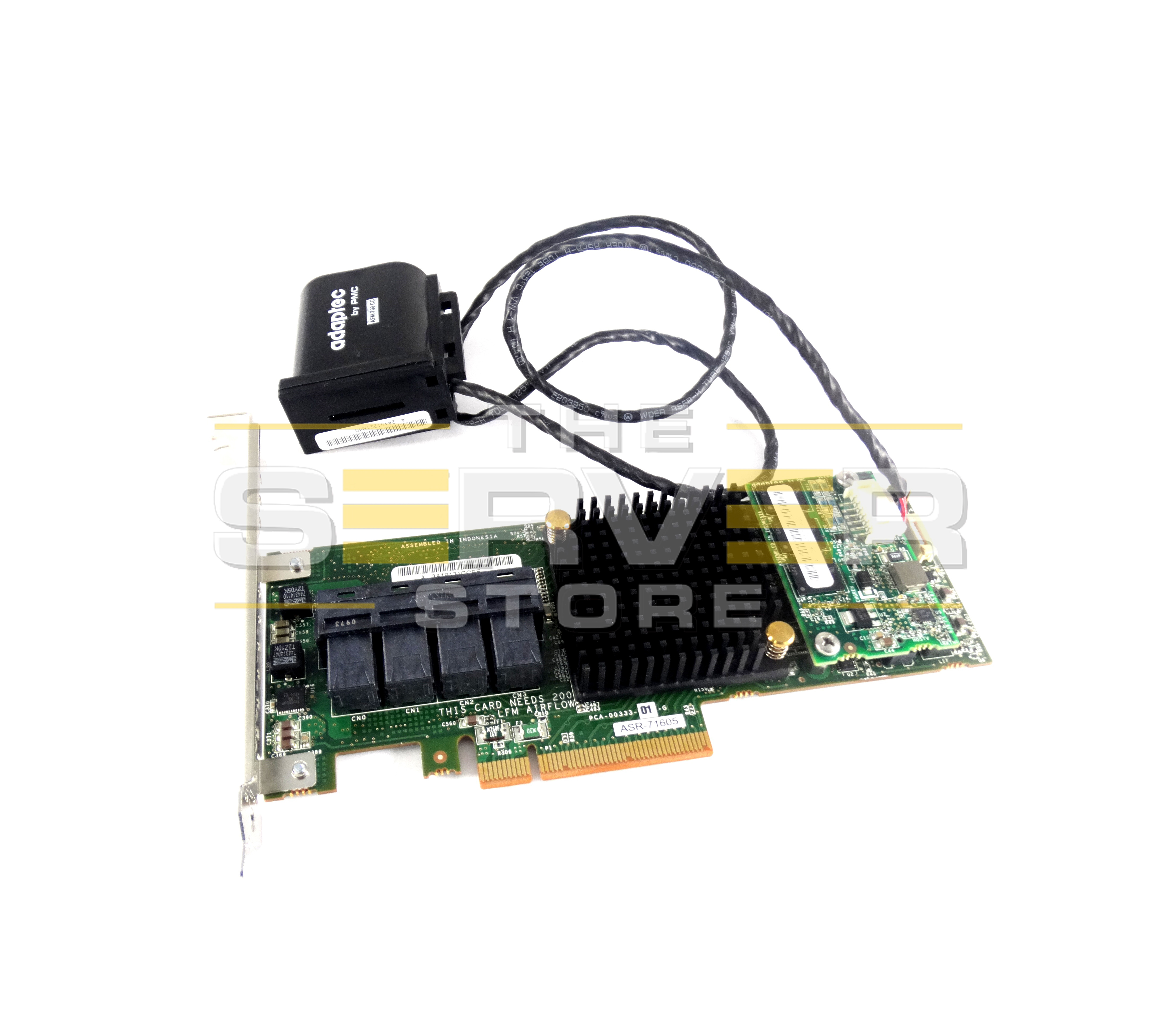 Adaptec 2274400-R SAS SATA 6Gbps PCI-E RAID Controller with 1GB Battery Backed Cache, ASR-71605