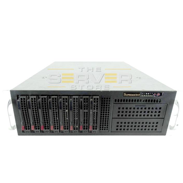 SuperMicro SC835BTQ-R1K28B W/ X9DRI-LN4F+ 8x LFF 3U Rackmount GPU/MIC Server