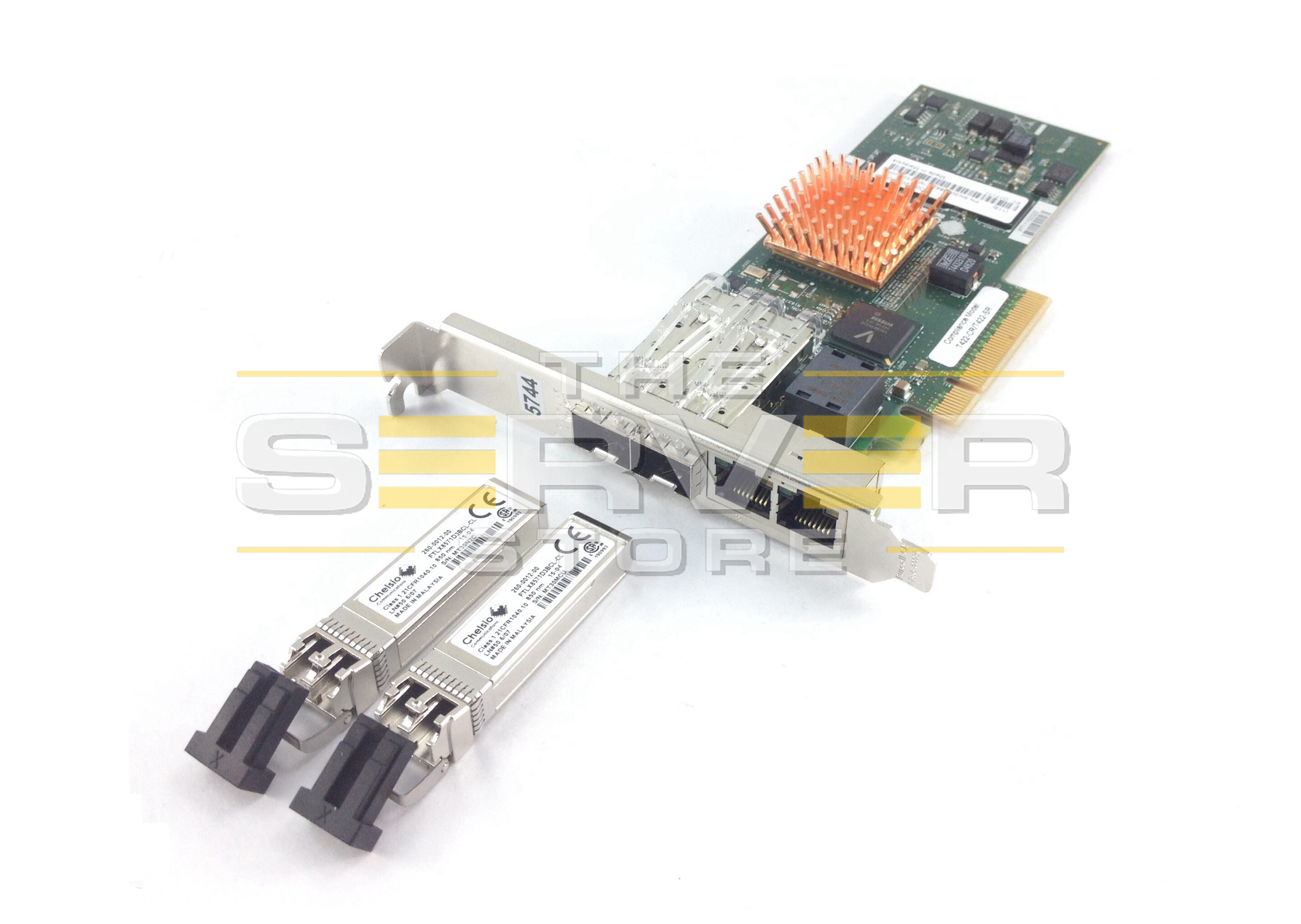 Chelsio High Performance Quad Port Unified Wire Adapter (2x 1GbE / 2x 10GbE), T422-CR