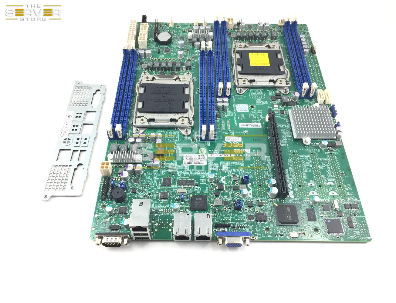 Supermicro X9DRD-LF Dual Socket LGA  2011 E-ATX Server System Board with I/O Plate